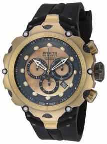 Invicta Men's 18452 Venom Quartz Chronograph Grey, Gold Dial Watch