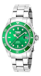 Invicta Men's 18505 Pro Diver Automatic 3 Hand Green Dial Watch