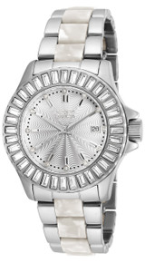 Invicta Women's 18874 Angel Quartz 3 Hand Silver Dial Watch