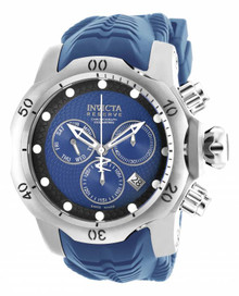 Invicta Men's 19008 Venom Quartz Chronograph Black, Blue Dial Watch