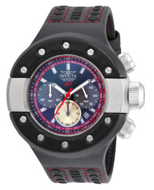 Invicta Men's 19175 S1 Rally Quartz Chronograph Black, Red, Gunmetal Dial Watch