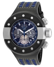 Invicta Men's 19176 S1 Rally Quartz Chronograph Black, Blue, Gunmetal Dial Watch