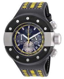 Invicta Men's 19177 S1 Rally Quartz Chronograph Black, Yellow, Gunmetal Dial Watch