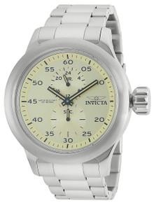 Invicta Men's 19493 Russian Diver Quartz Chronograph Ivory Dial Watch