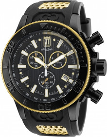 Invicta Men's 19577 Jason Taylor Quartz Chronograph Black Dial Watch