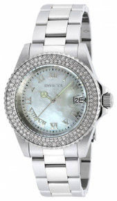 Invicta Women's 19873 Angel Quartz 3 Hand White Dial Watch