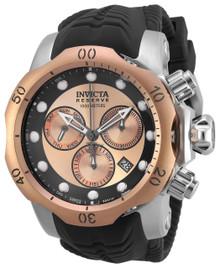 Invicta Men's 19921 Venom Quartz Chronograph Black, Rose Gold Dial Watch