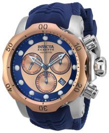Invicta Men's 19922 Venom Quartz Chronograph Blue, Rose Gold Dial Watch