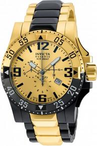 Invicta Men's 20141 Excursion Quartz 3 Hand Gold Dial Watch