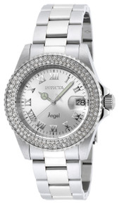Invicta Women's 20213 Angel Quartz 3 Hand Silver Dial Watch