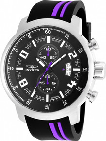 Invicta Men's 20219 S1 Rally Quartz 3 Hand Black Dial Watch