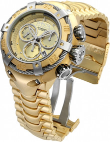 Invicta Men's 21345 Bolt Quartz Chronograph Gold Dial Watch
