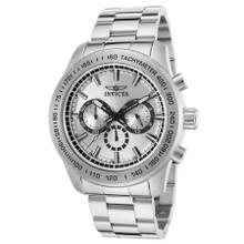 Invicta Men's 21794 Speedway Quartz Chronograph Silver Dial Watch