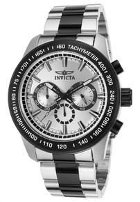 Invicta Men's 21799 Speedway Quartz Chronograph Silver Dial Watch