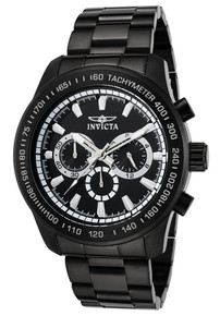 Invicta Men's 21815 Speedway Quartz Chronograph Black Dial Watch