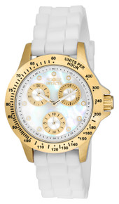 Invicta Women's 21985 Speedway Quartz Chronograph White Dial Watch