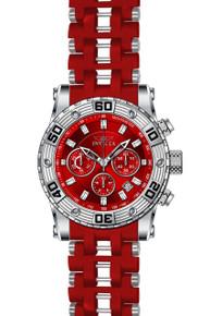 Invicta Men's 22088 Sea Spider Quartz Chronograph Red Dial Watch