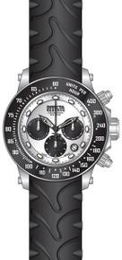 Invicta Men's 22136 Reserve Quartz Chronograph Black, Silver Dial Watch