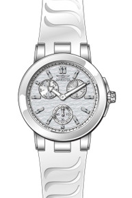 Invicta Women's 22195 Ceramics Quartz Chronograph Silver Dial Watch
