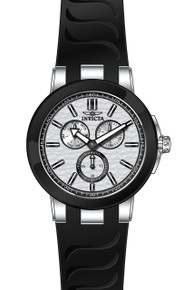 Invicta Men's 22208 Ceramics Quartz Chronograph Silver Dial Watch