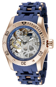 Invicta Men's 80131 Sea Spider Mechanical 3 Hand Silver Dial Watch