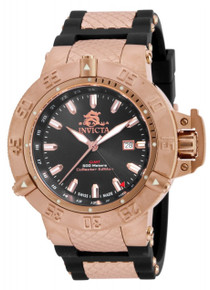Invicta Men's 80427 Subaqua Quartz 3 Hand Black Dial Watch