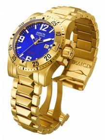 Invicta Men's 80600 Excursion Quartz 3 Hand Blue Dial Watch
