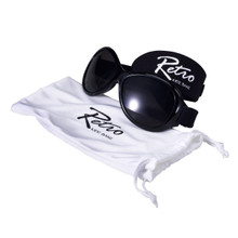 Retro Banz Black by Baby Banz Sunglasses Ages (0-2)