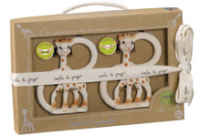 Twin So'Pure Sophie the giraffe Teething Rings by VULLI