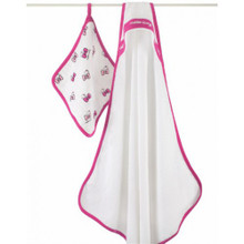 Hello Kitty® Hooded Towel Set towel & washcloth sets By Aden and Anais