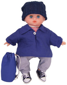 "Petitcollin 11"" Cuddly First BOY Baby Doll Sailor Finistere Petit Calin"