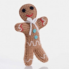 Pebble Gingerbread Baby Rattle