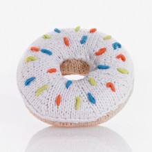 Pebble White Donut Rattle