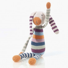 Pebble  Organic Stripey rainbow Bunny Multi