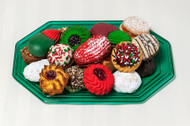 1 pound Holiday Cookie Tray (Green) - This tray includes 1 pound of our most popular holiday cookie assortment. Price per 1 pound tray.
