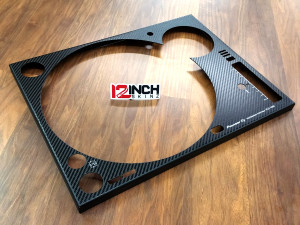 Pioneer PLX-1000 Steel Face Plate (PAIR) - Black Carbon Fiber
