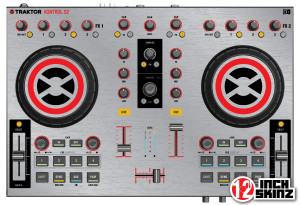 Native Instruments Kontrol S2 MK1 Skinz - Metallics