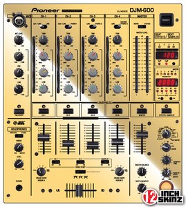 Pioneer DJM-600 Skinz - Metallics