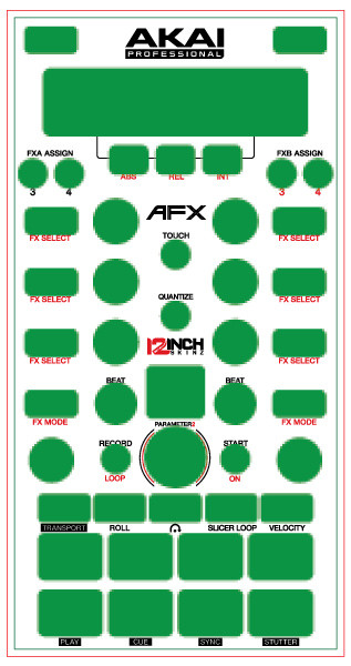 Akai afx skinz custom 12inchskinz for Afx templates