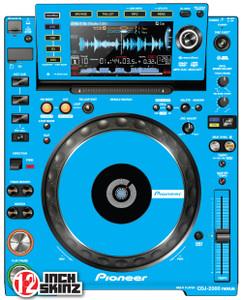 PIONEER CDJ 2000 Nexus light blue (PAIR) ADHESIVE - - SALE