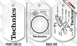 Dog Tags - Technics 1200 (PAIR)