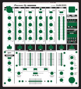 Pioneer DJM-600 Skinz - Custom