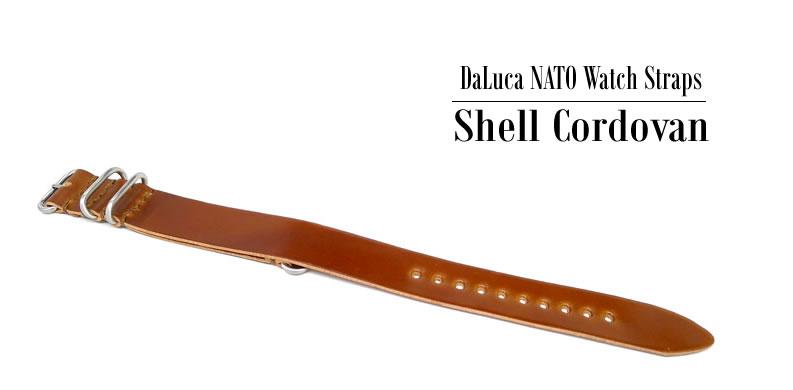 DaLuca Shell Cordovan Nato Watch Strap