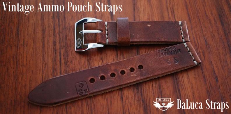 DaLuca Vintage Swiss Ammo Pouch Watch Straps