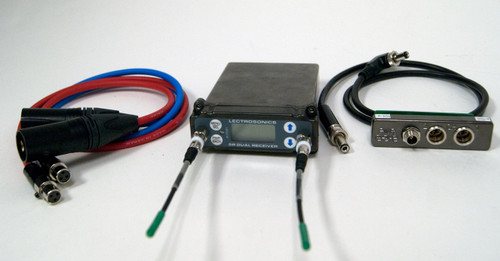 Used Lectrosonics SRC Wideband Dual Channel Slot Receiver, Freq. C1 w/ SREXT Adapter & Cables