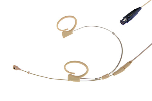 Voice Technologies VT Duplex-Cardioid Headset Mic, Beige (TA4F for Shure)