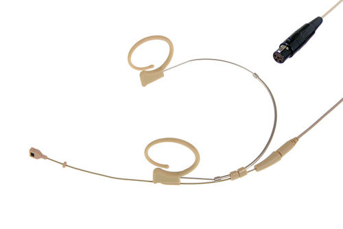 Voice Technologies VT Duplex-Cardioid Headset Mic, Beige (TA5F for Lectrosonics)