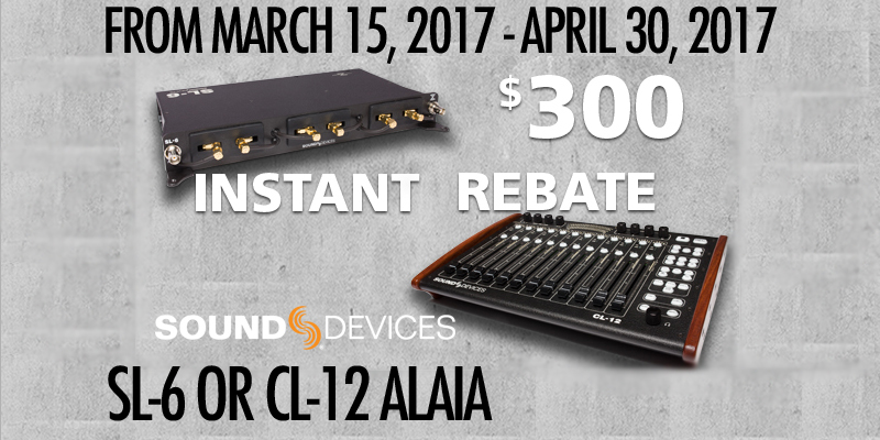 Sound Devices Instant Rebates