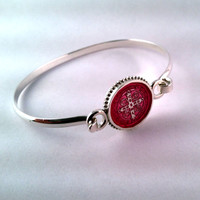 Saint Benedict Enamel Bangle