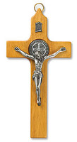 Saint Benedict Crucifix with Pewter Corpus
